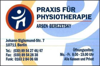 Praxis für Physiotherapie Arsen Berezetsky